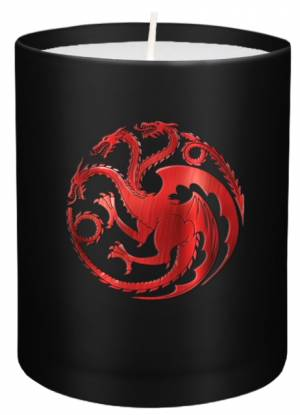 Game of Thrones: House Targaryen Large Glass Candle af Insight Editions